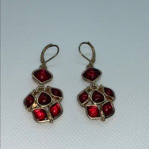 Vintage earrings red and gold